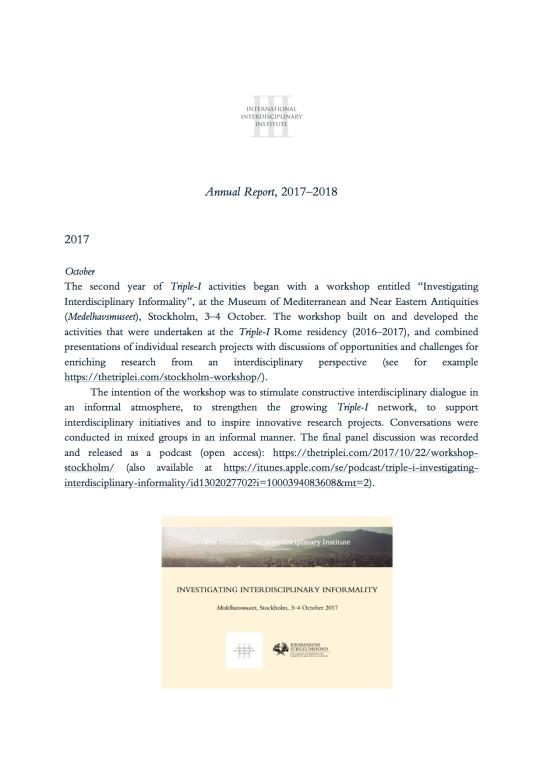 Annual Report, 2017–2018, 1